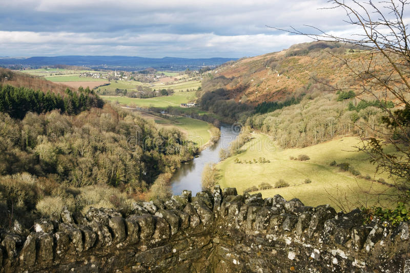 Hereford England. A landscape view from Symonds Yat Hereford England royalty free stock photo
