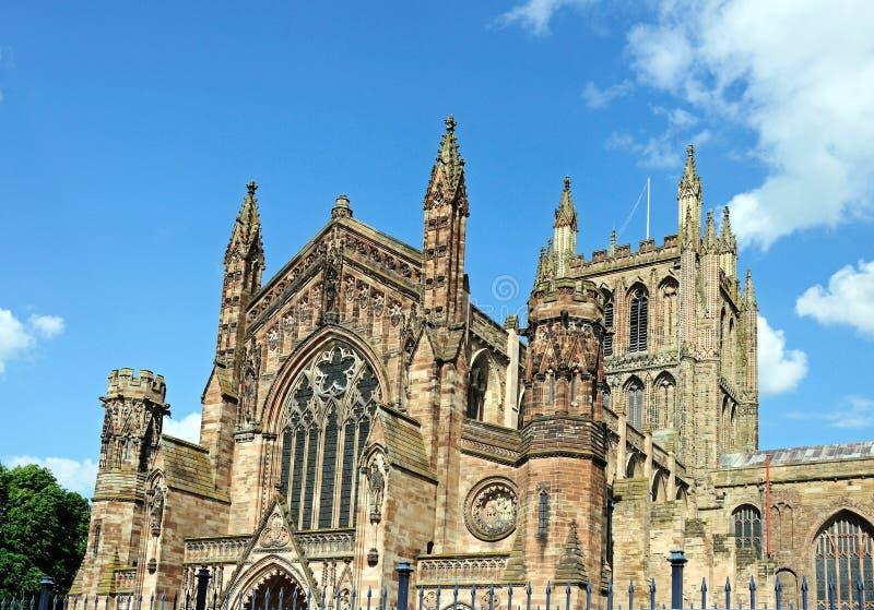 Hereford-Kathedrale stockfoto