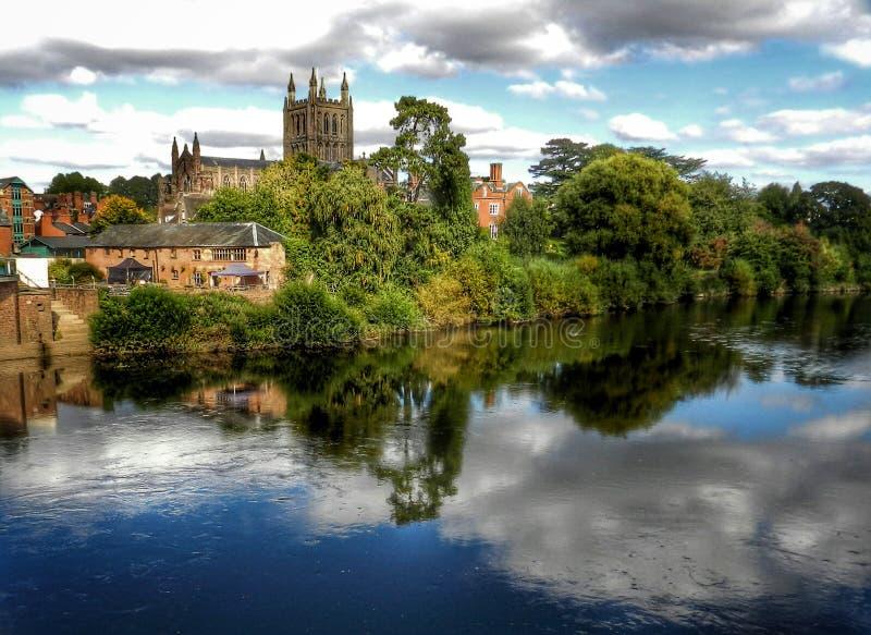 Hereford - la città della cattedrale immagine stock