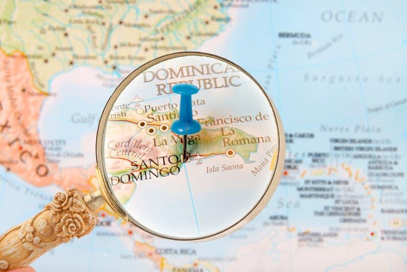 Herein auf Santo Domingo, Dominikanische Republik schauen stockbild