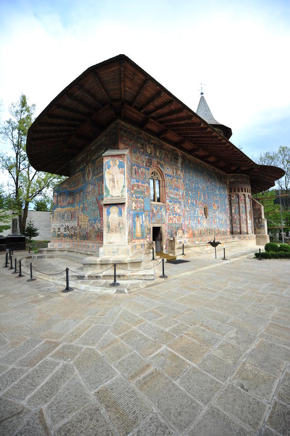 Herencia de la UNESCO - monasterio de Moldavia de Voronet imagen de archivo libre de regalías