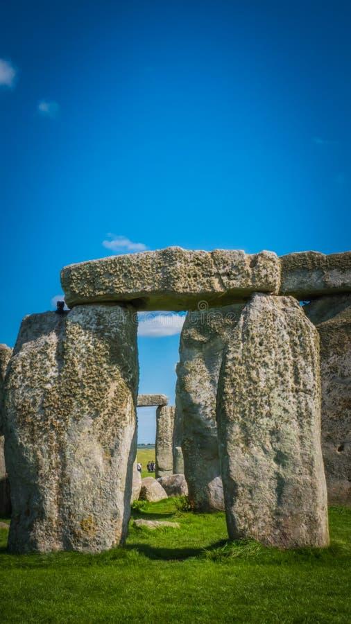 Herencia de la UNESCO de Stonehenge en la composición vertical del tubo principal BRITÁNICO fotos de archivo libres de regalías