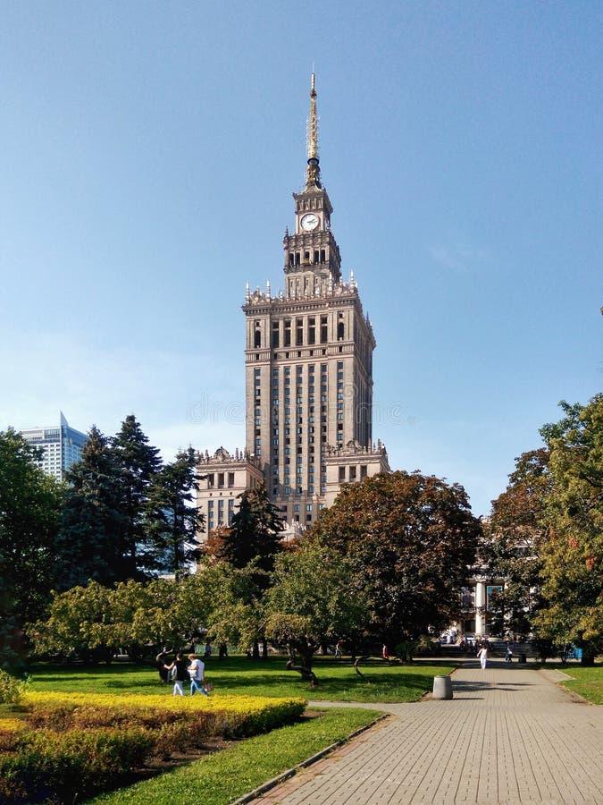 Herencia de Unión Soviética en Varsovia foto de archivo libre de regalías