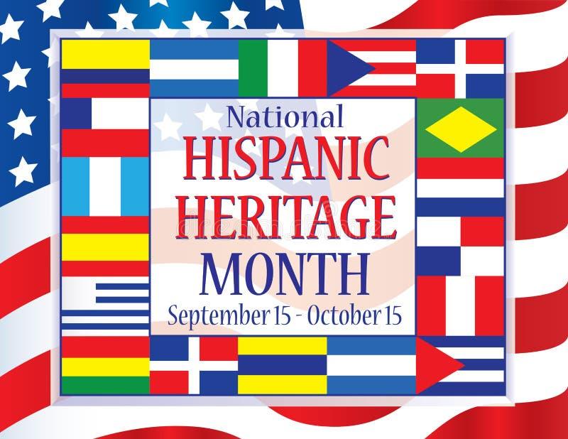 Herencia mes 15 de septiembre hispánico nacional - 15 de octubre libre illustration
