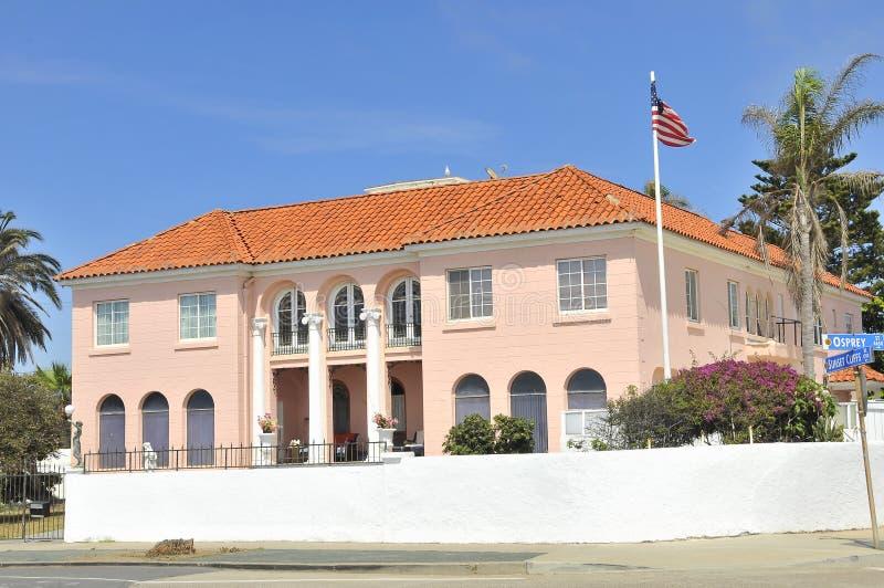 Herenhuis in San Diego, Californië, op de Boulevard van Zonsondergangklippen royalty-vrije stock fotografie
