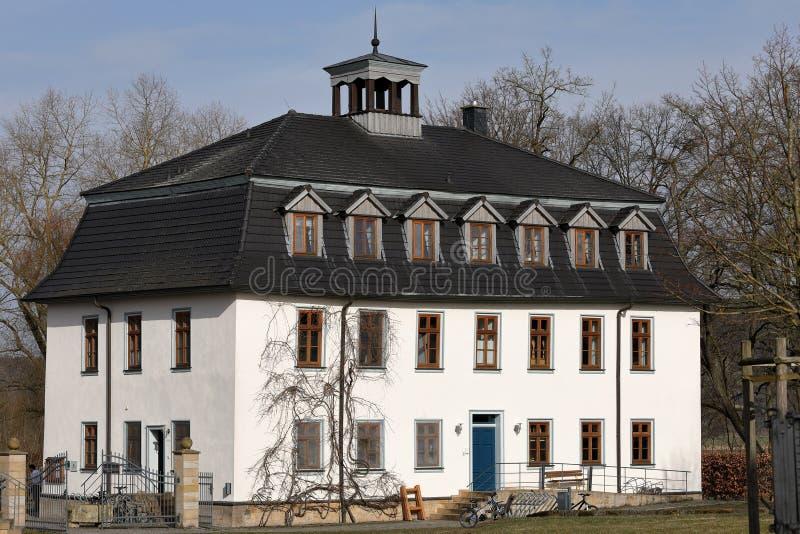 Herenhuis van Creuzburg in Duitsland stock fotografie