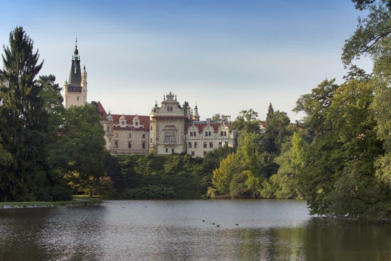 Herenhuis XII XVI eeuw in Pruhonice dichtbij Praag, Tsjechische Republiek dichtbij Praag royalty-vrije stock foto's