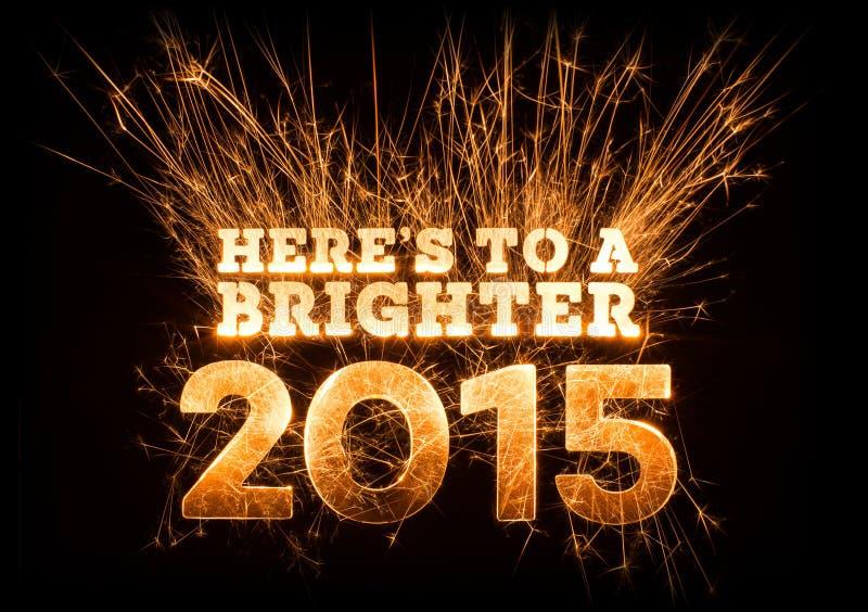 Heres σε έναν φωτεινότερο χαιρετισμό του 2015 στο σκοτεινό υπόβαθρο στοκ φωτογραφίες με δικαίωμα ελεύθερης χρήσης