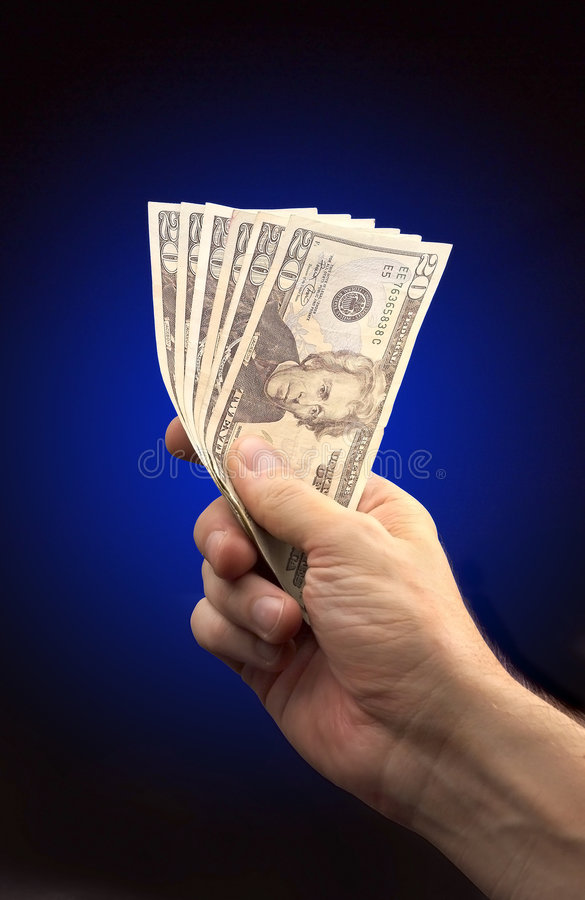 Heres the money royalty free stock photos