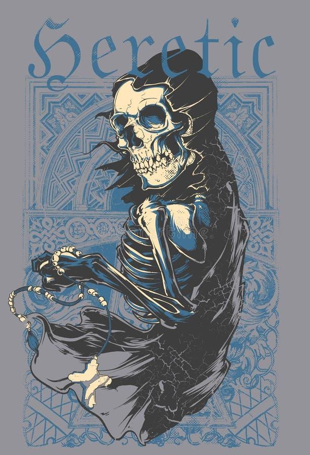 Heretyk śmierć ilustracja wektor
