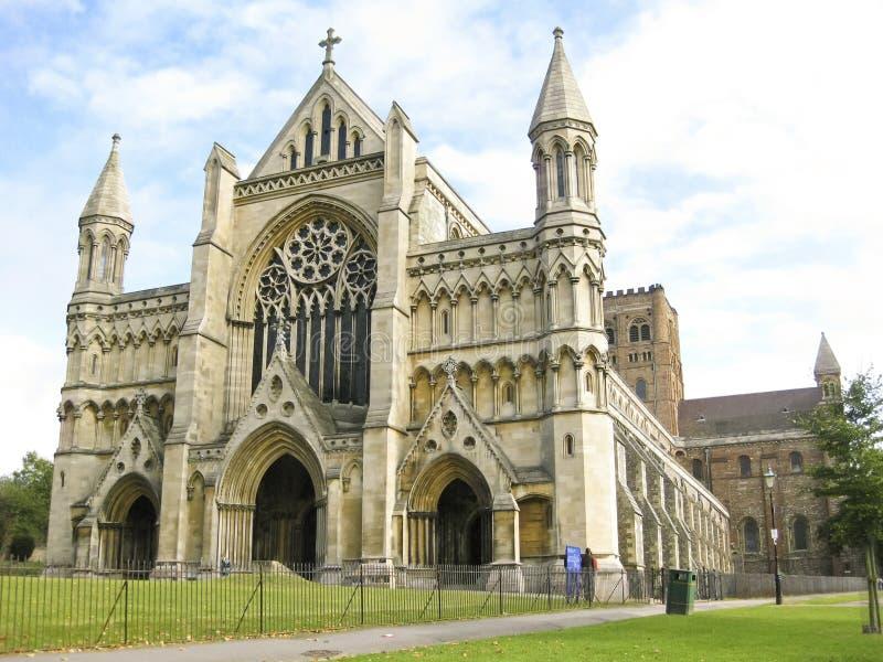 Herfordshire Reino Unido de la catedral de St Albans fotos de archivo