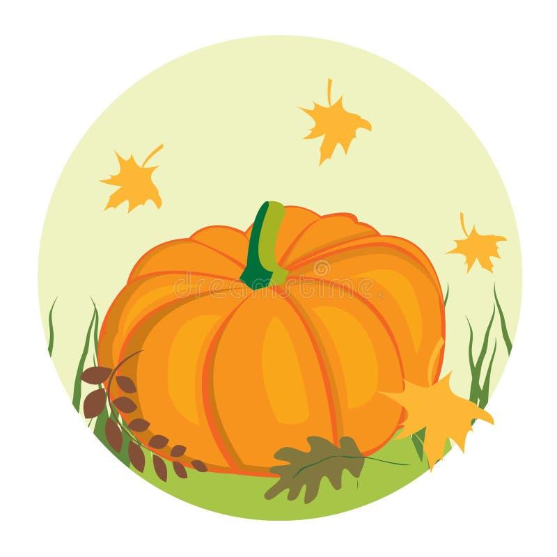 Herfst achtergrond met pompoen vector illustratie