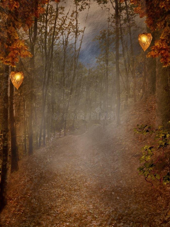 Herfst bosachtergrond vector illustratie