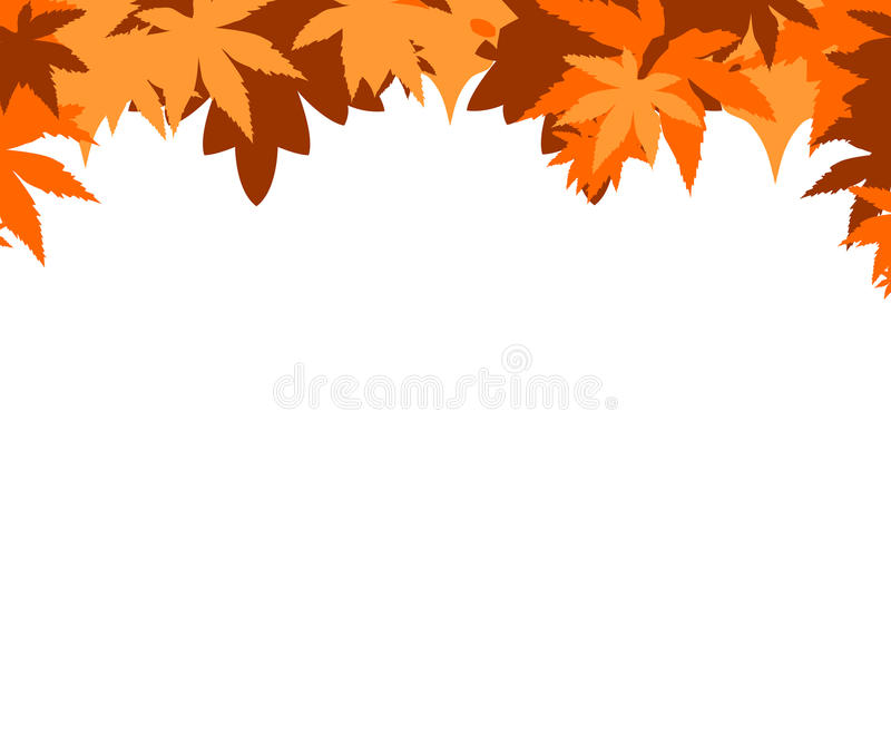 Herfst grens vector illustratie