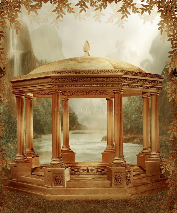 Herfst landschap 5 royalty-vrije illustratie