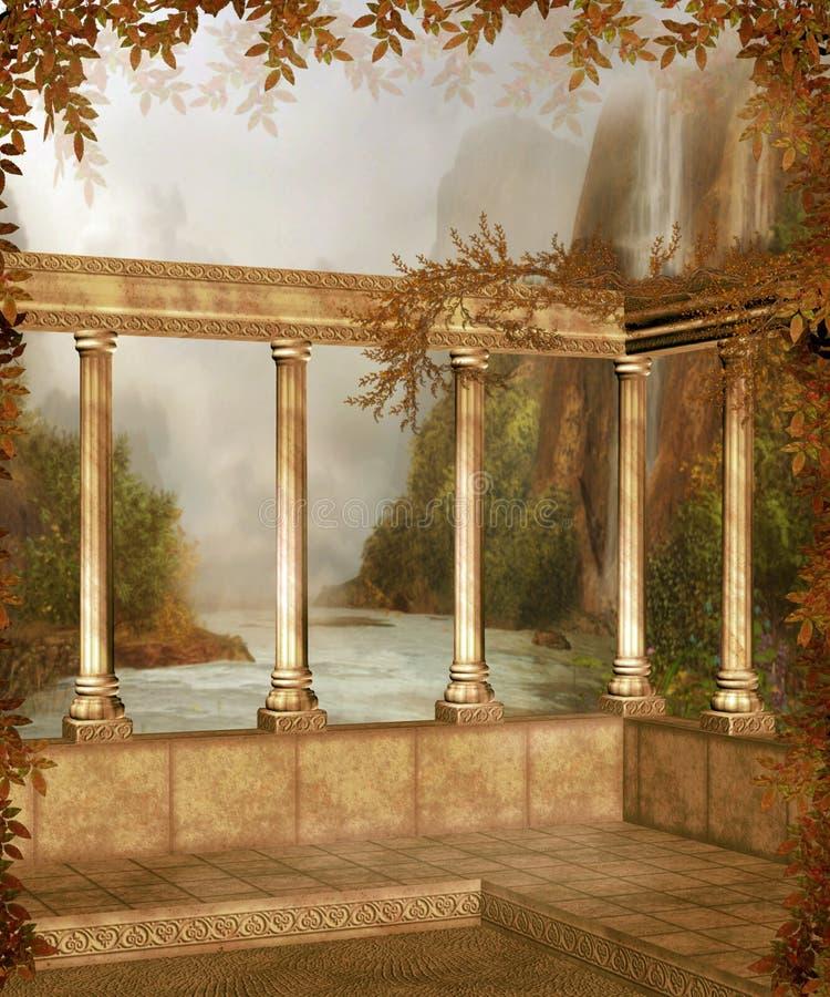 Herfst landschap 6 vector illustratie