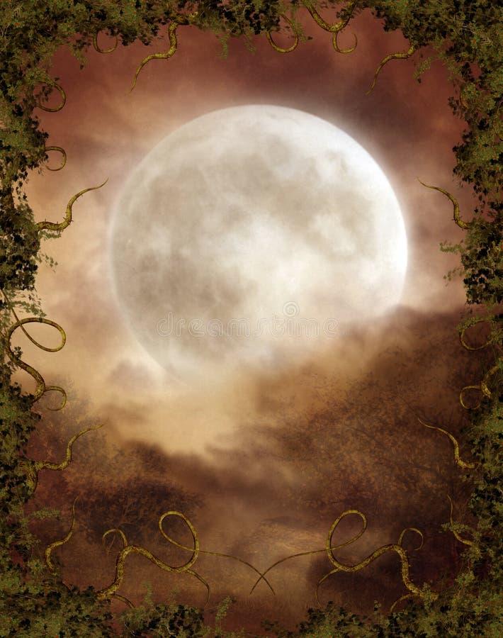 Herfst maan stock illustratie