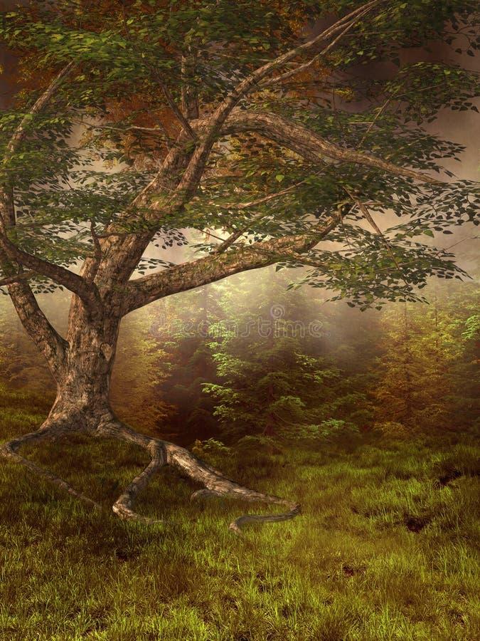 Herfst weide vector illustratie
