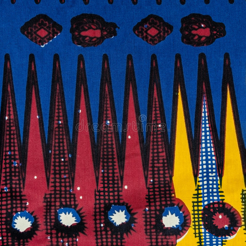 Hergestelltes afrikanisches Gewebe (Baumwolle) stockfoto