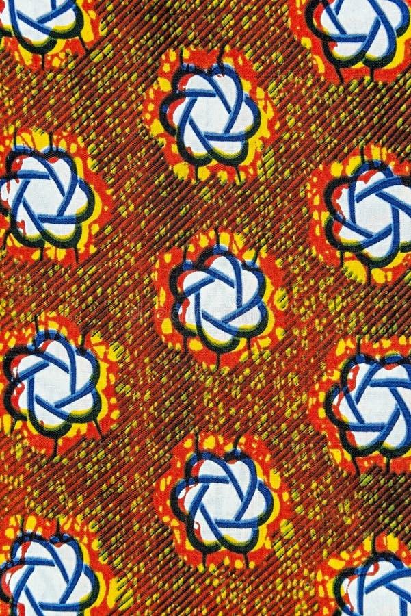 Hergestelltes afrikanisches Gewebe (Baumwolle) stockfotografie