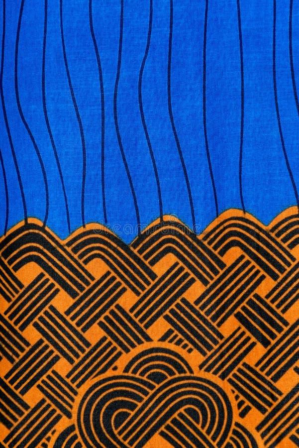 Hergestelltes afrikanisches Gewebe (Baumwolle) lizenzfreie stockbilder