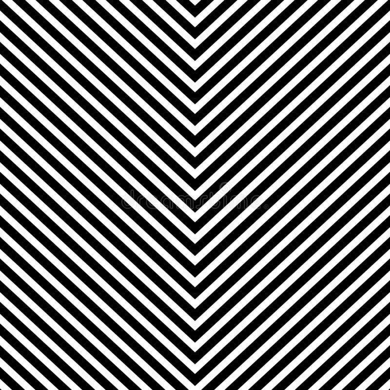 Herhaalbaar geometrisch patroon met het hellen, schuine lijnen stock illustratie