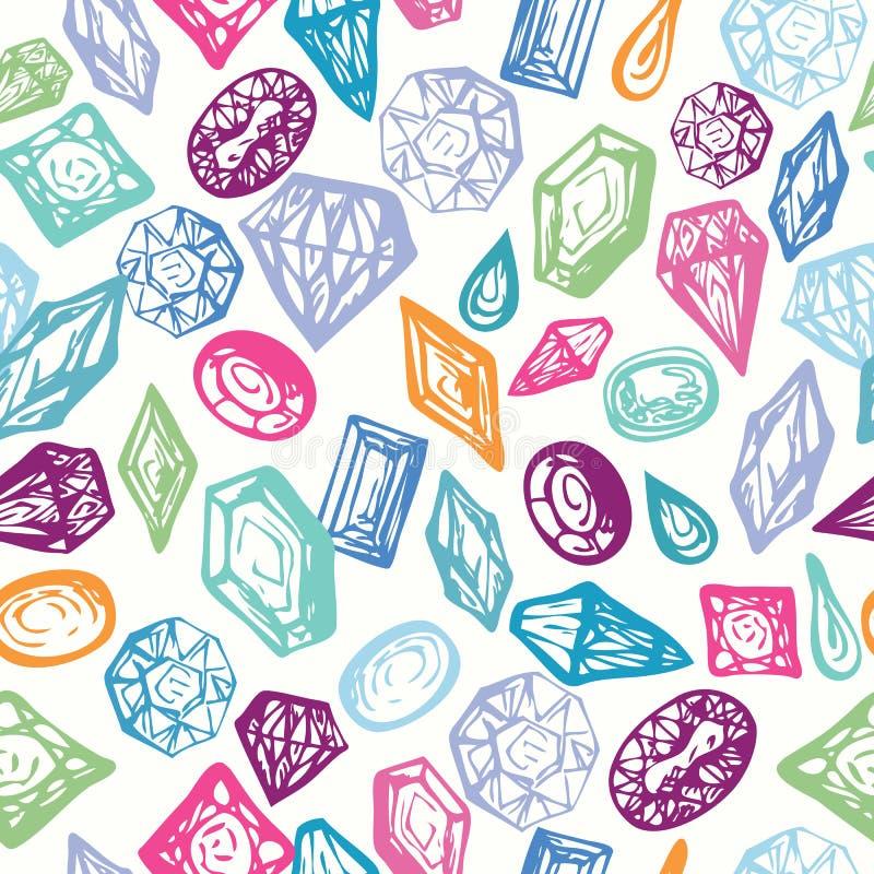 Herhaalbare Achtergrond met Kleurrijke Diamanten vector illustratie
