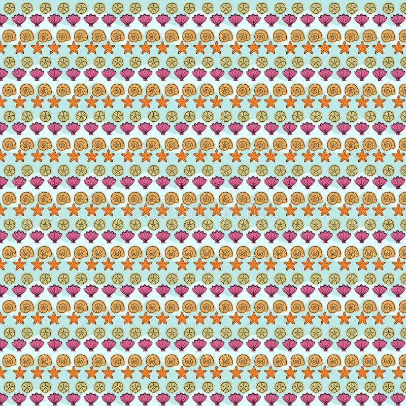 Herhaald textielpatroon in violette en bruine tinten royalty-vrije illustratie