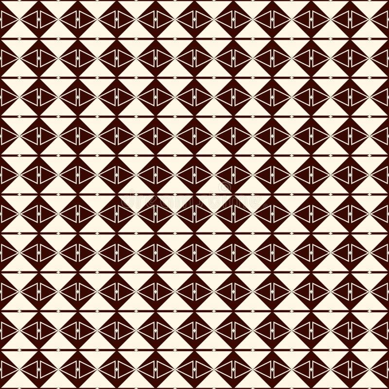 Herhaalde diamanten en lijnenachtergrond Etnisch behang Het naadloze ontwerp van het oppervlaktepatroon met ruitenornament vector illustratie