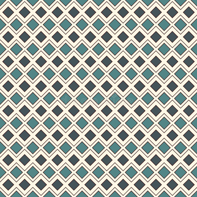 Herhaalde diamanten en lijnenachtergrond Etnisch behang Het naadloze ontwerp van het oppervlaktepatroon met ruitenornament stock illustratie