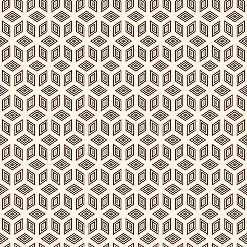 Herhaalde kubussenachtergrond Geometrisch vormenbehang Het naadloze ontwerp van het oppervlaktepatroon met veelhoeken royalty-vrije illustratie