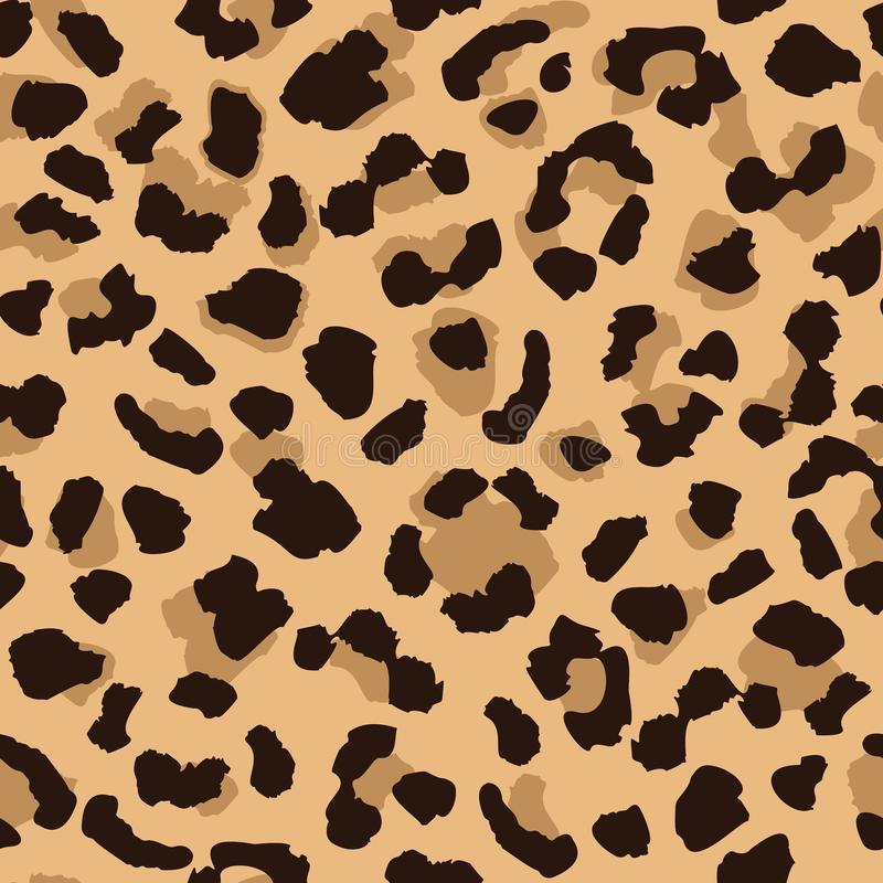 Herhaalt de naadloze het patroontextuur van de luipaardhuid Abstract dierlijk bontbehang Eigentijdse achtergrond stock illustratie
