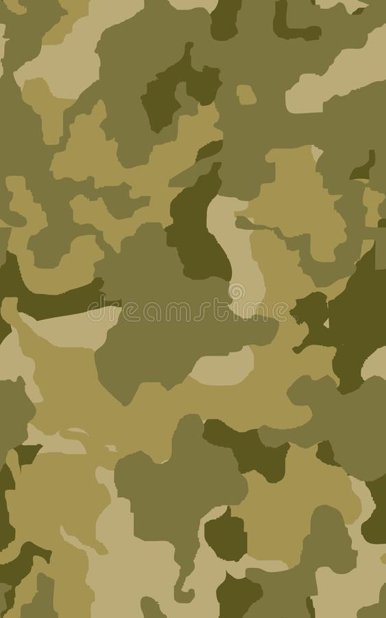 Herhaalt de textuur militaire camouflage de naadloze leger groene jacht stock illustratie