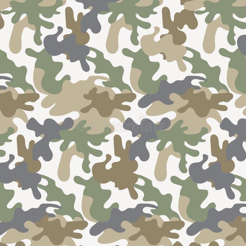 Herhaalt het militaire leger van de textuurcamouflage royalty-vrije illustratie