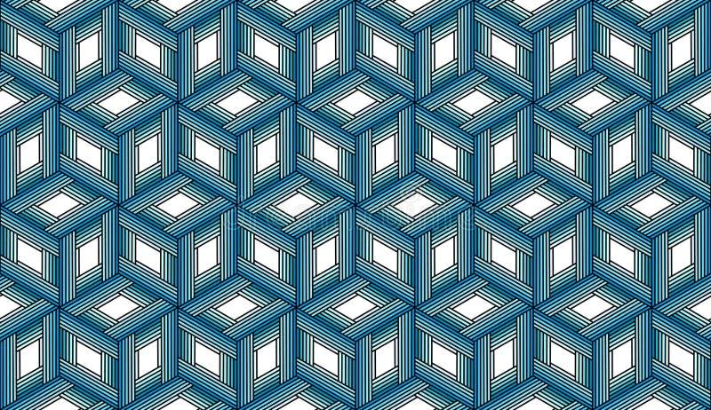 Herhalend Blauwe Kubussen - Tileable-Achtergrond royalty-vrije stock foto's