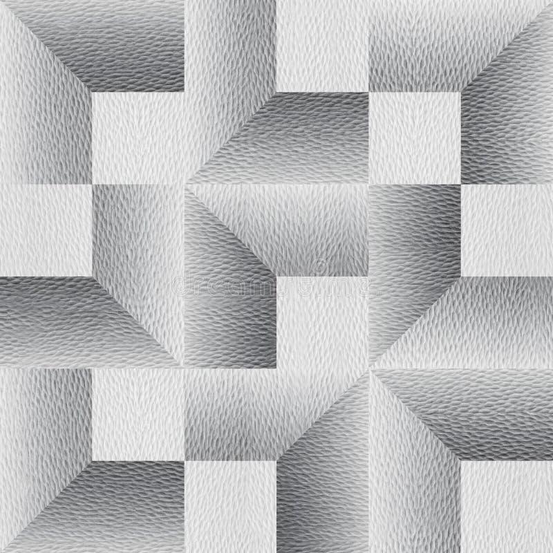 Herhalende geometrische tegels - Abstract panelpatroon - Witte, naadloze patronen - Behangpapier voor intern ontwerp royalty-vrije stock fotografie