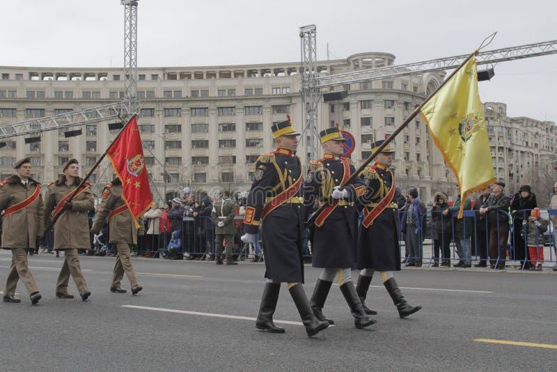 Herhaling voor Roemeense Nationale Dagparade royalty-vrije stock foto