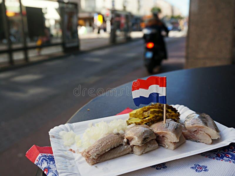 Hering en Amsterdam fotos de archivo libres de regalías