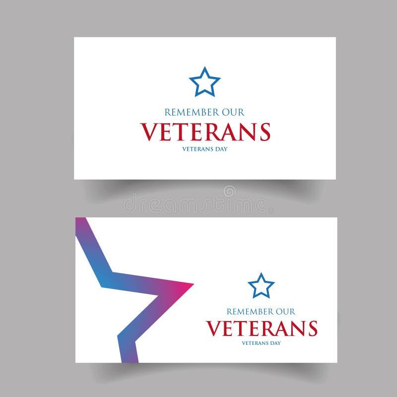 Herinner ons ontwerp van de Veteranenv.s. royalty-vrije illustratie