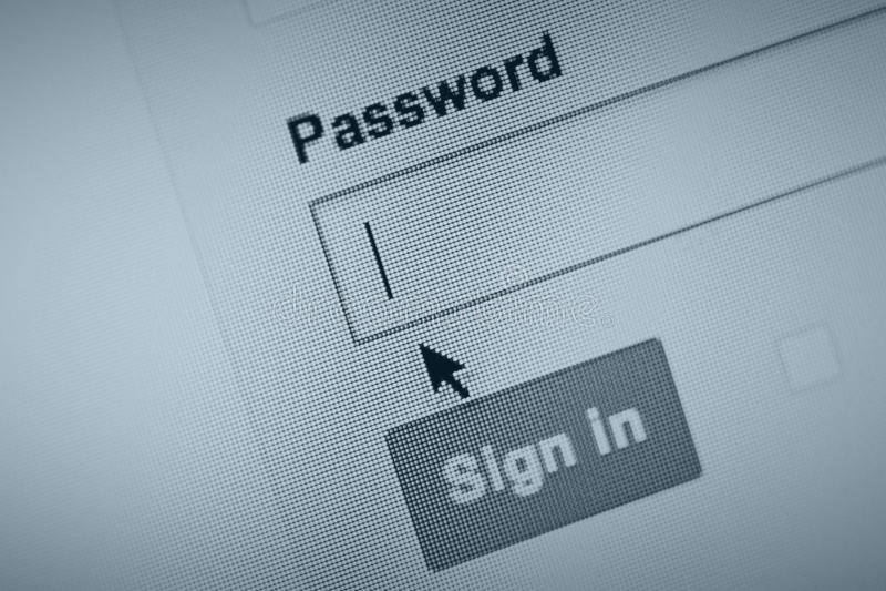 Herinner uw wachtwoord? royalty-vrije stock foto