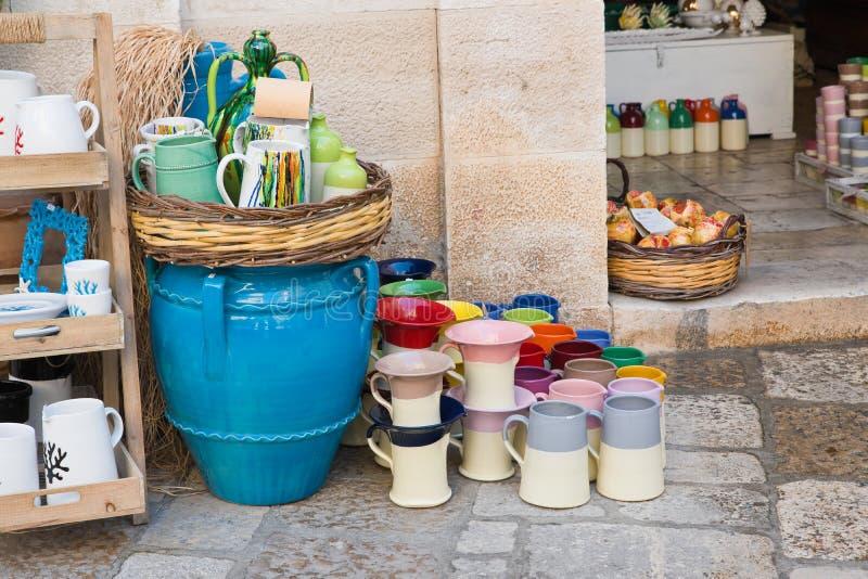 herinnering Polignano een Merrie Puglia Italië stock afbeelding