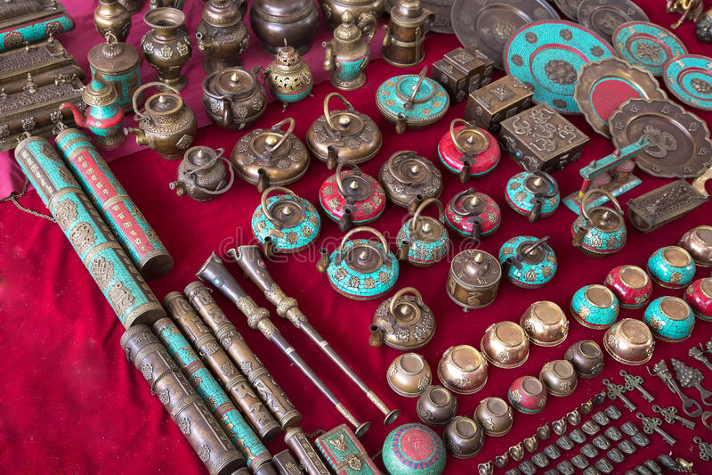 Herinneringen in Indische markt royalty-vrije stock foto's