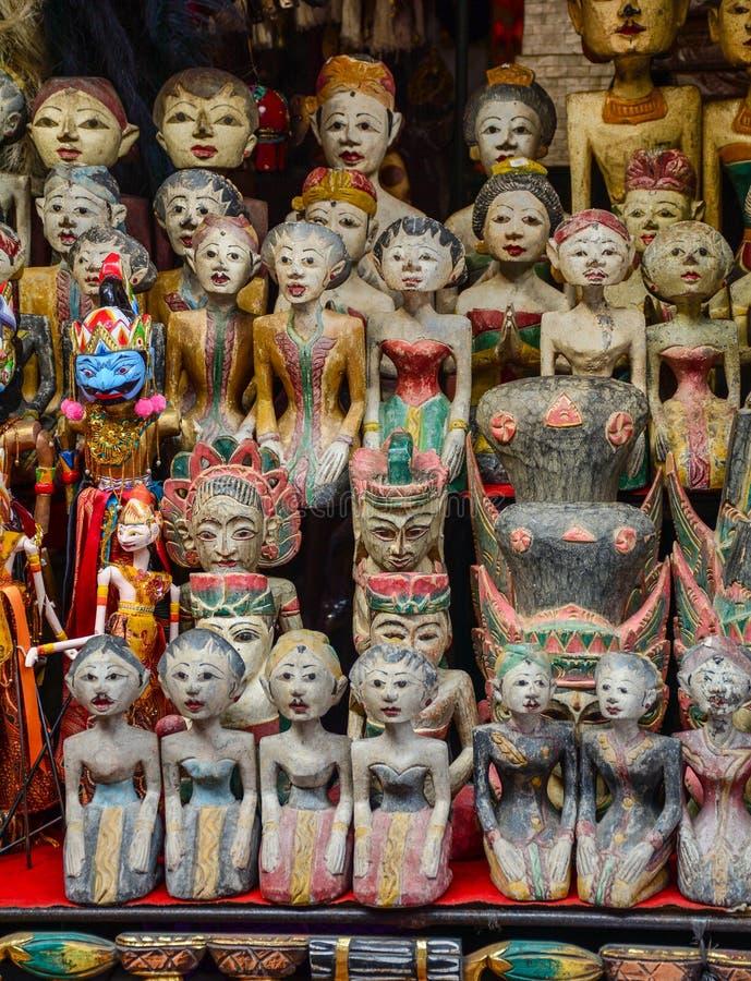 Herinneringen voor verkoop in het eiland van Bali, Indonesië stock foto's