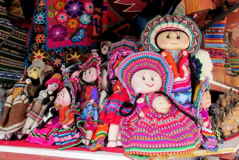 Herinneringspoppen in Boliviaanse nationale doek royalty-vrije stock fotografie