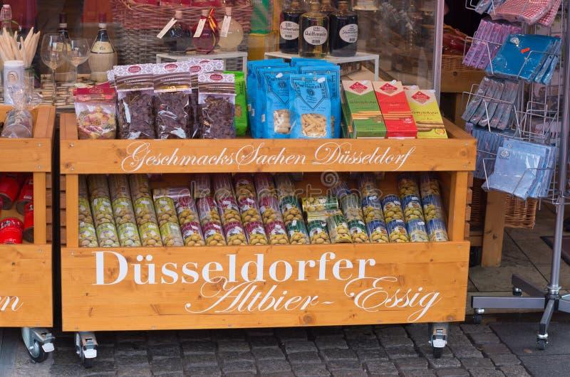 Herinneringswinkel in Dusseldorf stock afbeelding