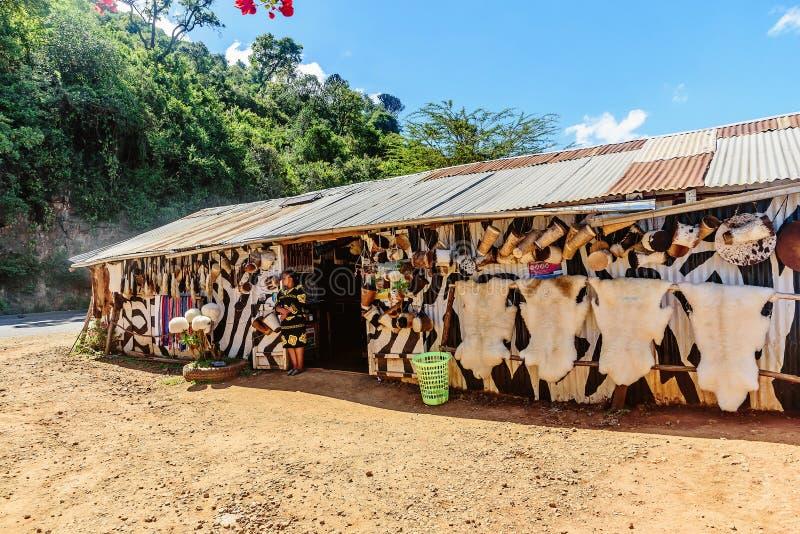 Herinneringswinkel in Kenia, Afrika stock foto's