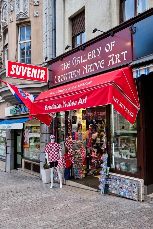 Herinneringswinkel, Zagreb, Kroatië stock afbeelding