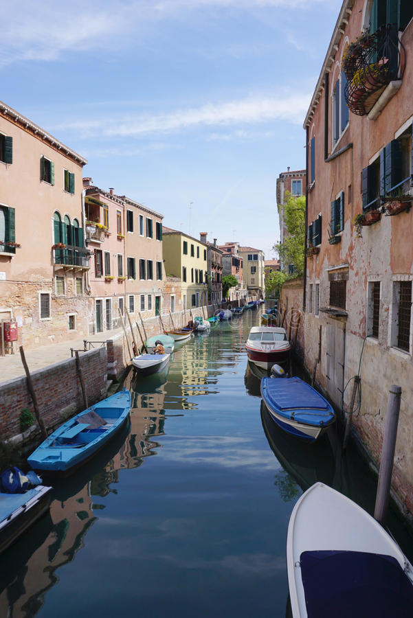 Heritage beautiful building with canel in Venice royalty free stock photo