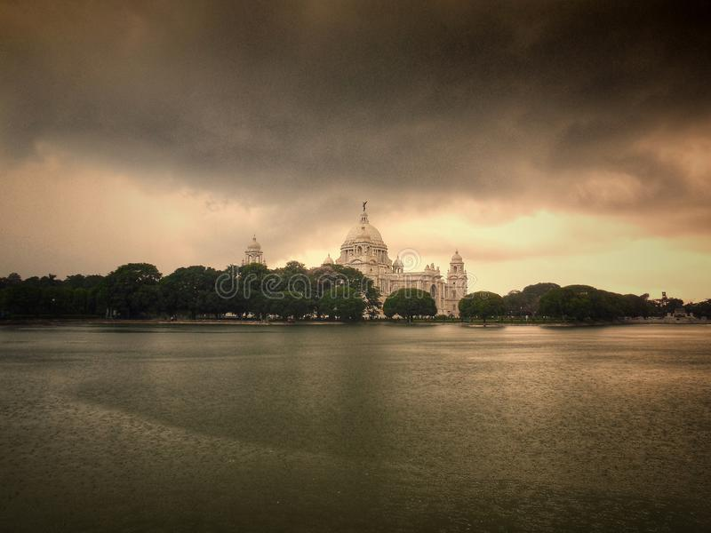THE QUEEN OF KOLKATA VICTORIA. A HERITAGE BUILDING IN KOLKATA , THATS CALLED VICTORIA MEMORIAL royalty free stock image