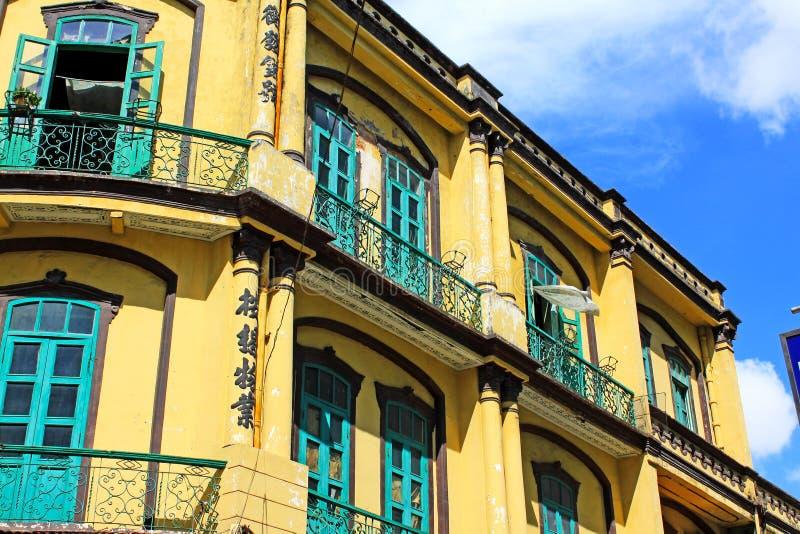 Heritage Building, Macau, China stock photos